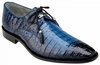 Belvedere Crocodile Shoes Ocean Blue Plain Toe Rome 1633 htm