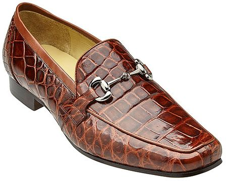Belvedere Tan Alligator Gucci Style Loafer Gerald