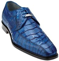 Belvedere Mens Blue Genuine Hornback Crocodile Top Shoes Columbo