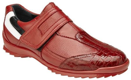 Belvedere Mens Red Crocodile Toe Casual Sneakers Mikele - click to enlarge