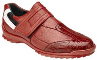 Belvedere Mens Red Crocodile Toe Casual Sneakers Mikele
