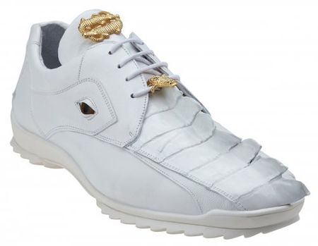 Belvedere Mens Genuine Hornback Crocodile Sneaker Vasco 336122 - click to enlarge