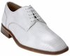 Belvedere Mens White Genuine Lizard Skin Shoes Olivo H14