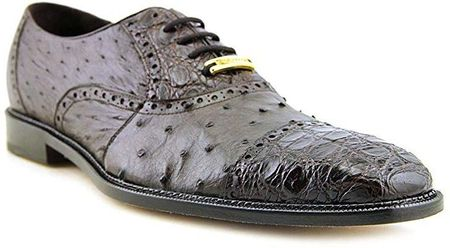 Belvedere Onesto Mens Brown Ostrich Crocodile Cap Toe Shoes 1419 - click to enlarge