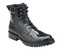 Belvedere Real Black Alligator Work Boot Logan