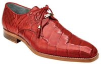 Belvedere Red Alligator Shoes Lago