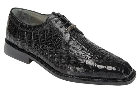 Belvedere Shoes Black Mens Crocodile Skin Shoes Susa P32 - click to enlarge