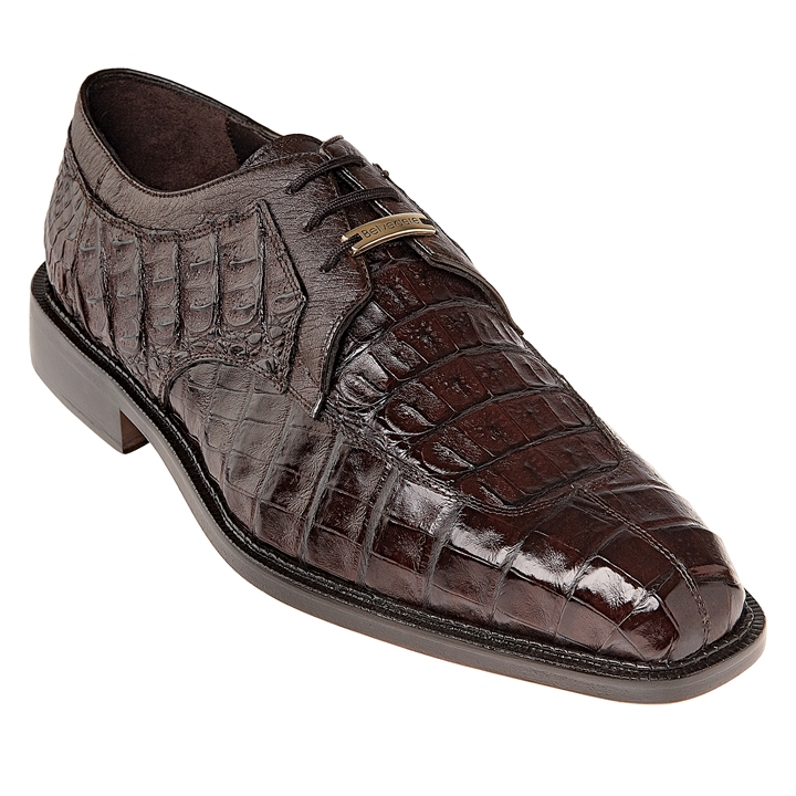 add16f1a80997 Belvedere Shoes Brown Mens Crocodile Skin Shoes Susa P32