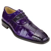Belvedere Shoes Men's Purple Eel Ostrich Skin Shoes Mare 2P7