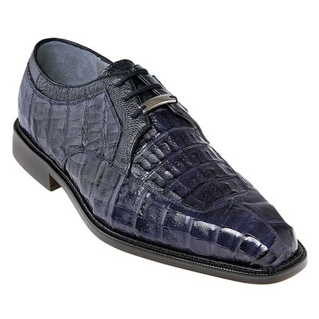 Belvedere Shoes Navy Mens Crocodile Skin Shoes Susa P32 - click to enlarge