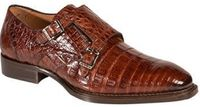 Mezlan Shoes Prague Mens Double Buckle Crocodile Sport Brown Size 10.5 Final Sale