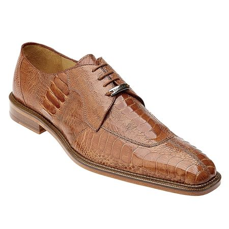 Belvedere Siena Mens Amber Ostrich Leg Skin Shoes 1463 - click to enlarge