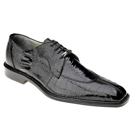 Belvedere Siena Mens Black Ostrich Leg Skin Shoes 1463 - click to enlarge