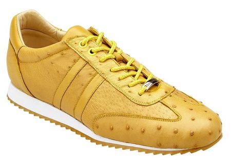 Belvedere Sneakers Mens Gold Ostrich Skin Parker 6004 - click to enlarge