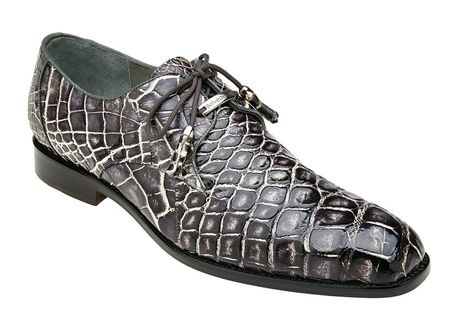 Belvedere Alligator Shoes Mens Black Rust Alfred
