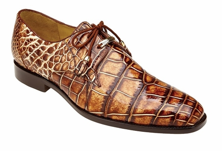 Belvedere Alligator Shoes Mens Caramel Tan Alfred - click to enlarge