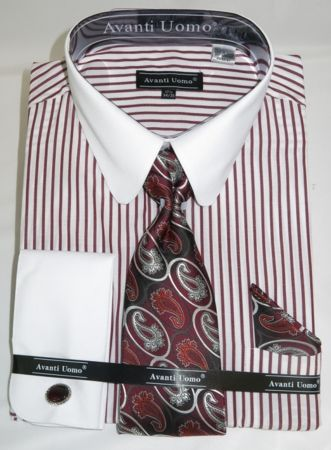 Big Man Size Dress Shirt Tie Sets