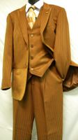 Falcone Rust Suede Vested 3 Piece Fashion Suit 3763-078 Size 44L Final Sale