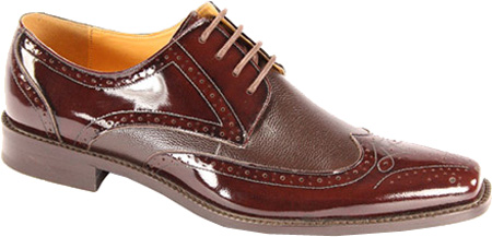 Giorgio Venturi Mens Burgundy Polished Leather Wing Tip Dress Shoes 6280