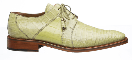 Alligator Shoes Ferrini Mens Peridot Cream Full Gator 205/528
