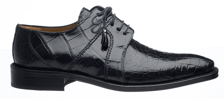 Alligator Shoes Ferrini Men's Navy Blue Lace Up 205/528 - click to enlarge