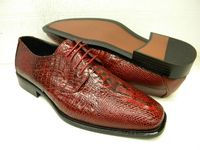 Bolano Mens Red Crocodile Print Dress Shoes 451-005 IS
