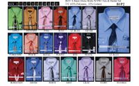 Boys Fashion Color Dress Shirt and Tie Set B1P2