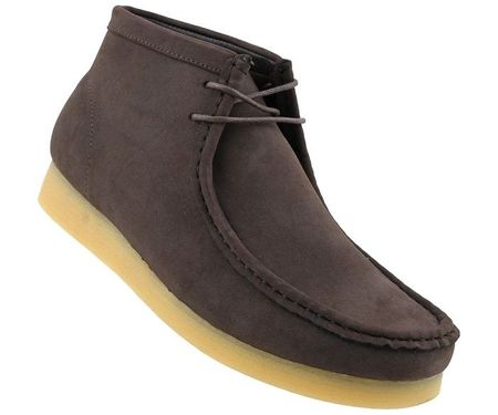British Style Chukka Boot Men's Moccasin Toe Brown Jason2
