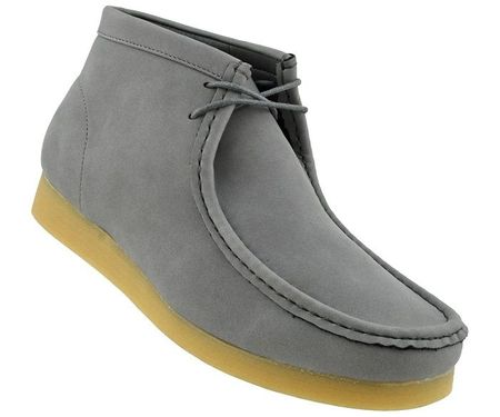 British Style Chukka Boot Men's Moccasin Toe Gray Jason2