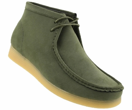 British Style Chukka Boot Men's Moccasin Toe Olive Green Jason2