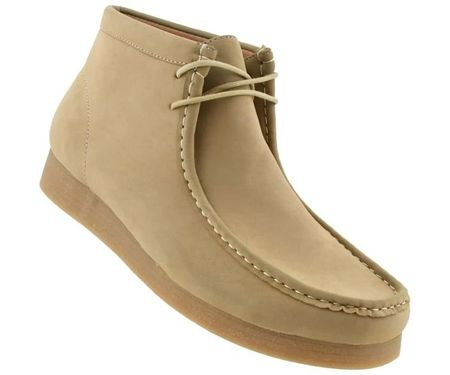 British Style Chukka Boot Men's Moccasin Toe Sand Jason2