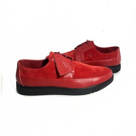 British Walker Shoes Casual Red Leather Suede Westminster