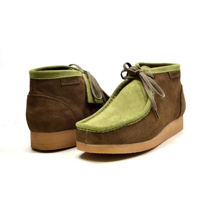 British Walkers Moccasin Toe Chukka Forrest Green Suede Newcastle
