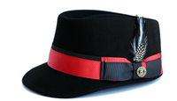 Bruno Capelo Black Red Band Legion Wool Fashion Hat LG-111