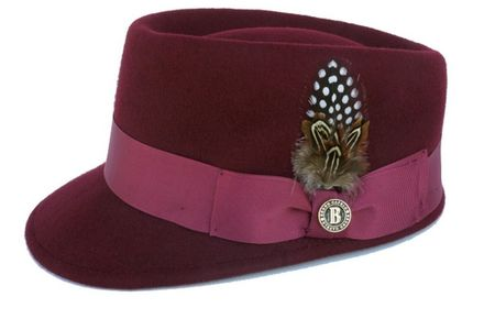 Bruno Capelo Burgundy Legion Wool Fashion Hat LG-104 Size S,M