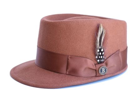 Bruno Capelo Cognac Brown Legion Wool Fashion Hat LG-106