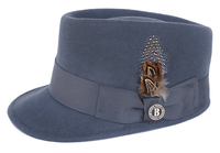 Bruno Capelo Gray Legion Wool Fashion Hat LG-107