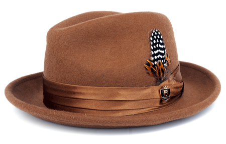d4efe36eb06 Bruno Men s Pecan Brown Wool Fedora Hat Untouchable UN-110