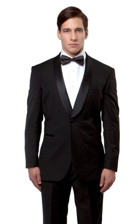 Bryan Michael Black Prom Tuxedo Slim Fit MT146S-01