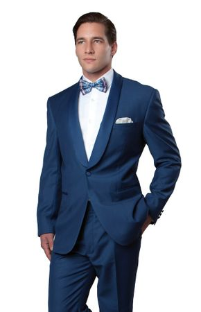 Bryan Michael Blue Prom Tuxedo Slim Fit MT146S-05