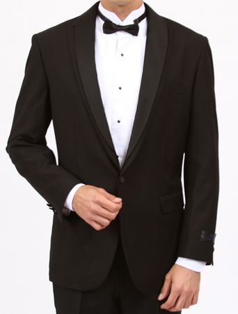 Bryan Michaels Black Shawl Collar Slim Fit Tuxedo MT188S