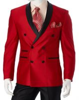 Slim Fit Red Tuxedo Mens Double Breasted Suit Vittorio S6506DB