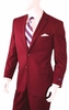 Mens Ron Burgundy Color 2 Button Single Breasted Suit A72TE
