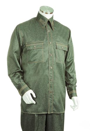Canto Big and Tall Fancy Stitch Casual Walking Suit 870