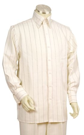 Canto Big and Tall Fancy Stripe Long Sleeve Walking Suit 860