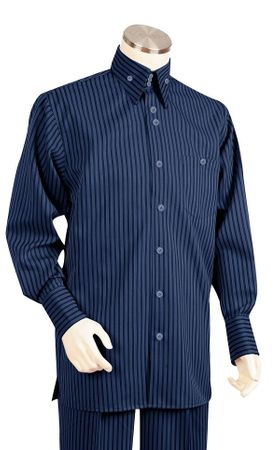 Canto Big and Tall Fashion Stripe Long Sleeve Walking Suits 868