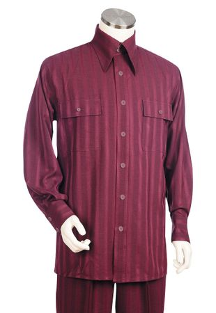 Canto Big and Tall Long Sleeve Tech Stripe Walking Suits 875
