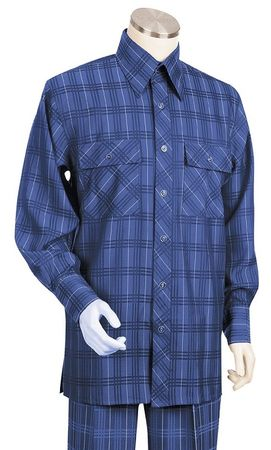 Canto Big and Tall Plaid Pattern Walking Suits 872