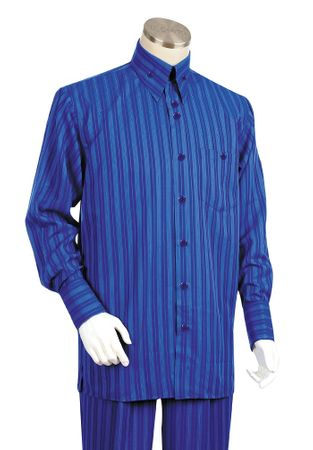 Canto Big and Tall Shadow Stripe Walking Suit Menswear 880