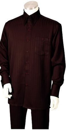 Canto Mens Brown Tone on Tone Stripe Walking Suit 884 Size XLarge/ 39 Waist Final Sale - click to enlarge